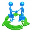 Green Business Handshake — Stock Photo