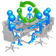 Green Business Meeting - Stock Photo