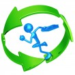 Business Recycling Progress Runner — Stock Photo #12280645
