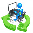 Recycling Online Networking — Foto de Stock