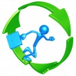 Business Recycling Progress Runner — Stock Photo