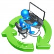 Recycling Online Networking — Stockfoto