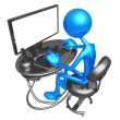 Computer Work Station — Stockfoto #12280711