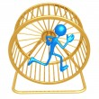 Hamster Wheel Runner — Stock Photo