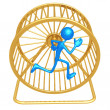 Hamster Wheel Runner - Stock Photo