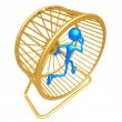 Hamster Wheel Runner Concept - Stock Photo
