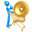 Stock Photo: Music Shopping Cart