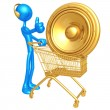 Music Shopping Cart — Stock Photo