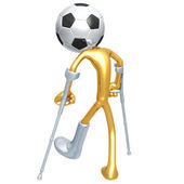 Injured Soccer Football Player — Stock Photo