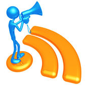 RSS Megaphone — Stock Photo