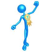 Golden Boy Blue Ribbon Winner — Stock Photo