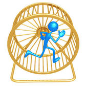 Hamster wheel löpare — Stockfoto