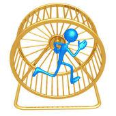 Hamster Wheel Runner — Stock Photo