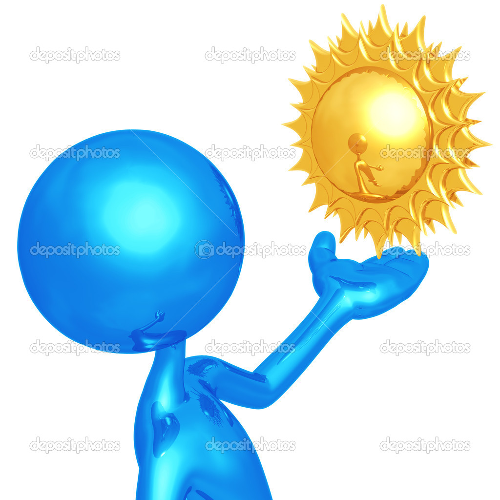 Weather Presenter Sun — Stock Photo #12280753