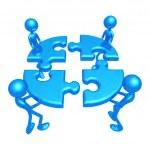 Teamwork Puzzle — Stock Photo #12296649