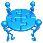 Teamwork Puzzle — Stock Photo #12296665