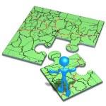 Fahrplan-Konzept-puzzle — Stockfoto #12298826