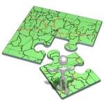 Fahrplan-Konzept-puzzle — Stockfoto #12298839