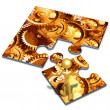 Stock Photo: Gears Concept Puzzle