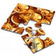 Gears Concept Puzzle — Stock Photo