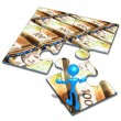 Stock Photo: American Currency Concept Puzzle
