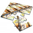 American Currency Concept Puzzle — Stock Photo