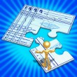 Medical Concept Puzzle — Stock Photo #12299074