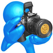 Camera With Coin Lens — Stock Photo