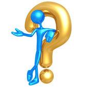 Złoty pytanie — Zdjęcie stockowe