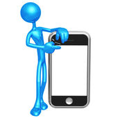 Touch Screen Mobile Device — Stock Photo