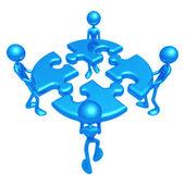 Puzzle di teamwork — Foto Stock
