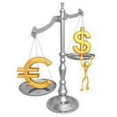 Euro Dollar Scale — Stock Photo