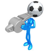Soccer Football Whistle — 图库照片