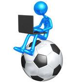 онлайн футбол футбол — Стоковое фото