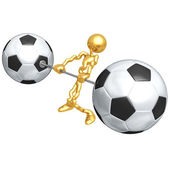 Soccer Football Weight Training — Stock Photo