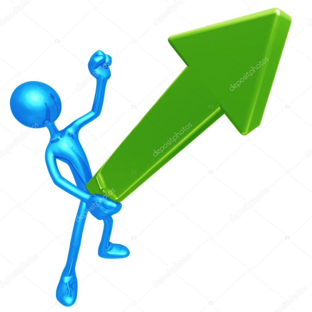 Erect Upward Market Trend Arrow  Stock Photo #12296515