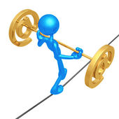 Tightrope Email — Stock Photo