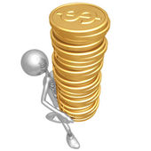 Gold coins tower — Stock Photo