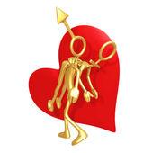 Sex symbol valentine — Stock Photo