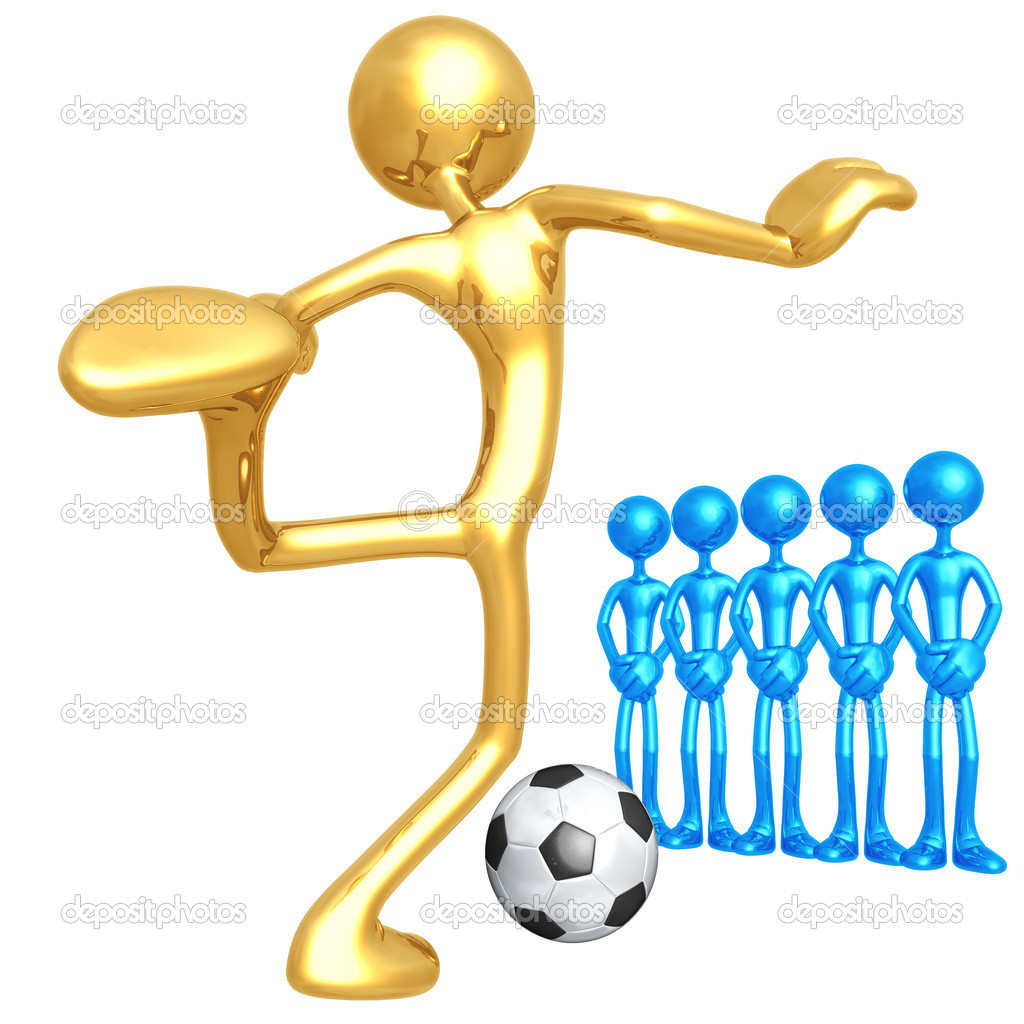 Soccer Football Penalty Kick — Stock Photo #12300045