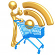 Stock Photo: RSS Shopping Cart