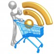 RSS Shopping Cart — Stock Photo
