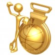 Gold Medal Basketball Winner — Stock Photo #12328362