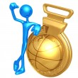 Stock Photo: Gold Medal Basketball Winner