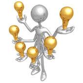Handling Multiple Ideas — Stock Photo