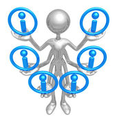 Handling Multiple Information — Stock Photo