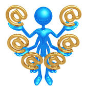 Handling Multiple Email — Stock Photo