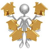 Obsługa wielu domów — Zdjęcie stockowe