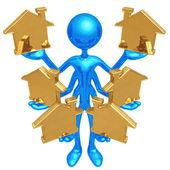 Zpracování více domovů — Stock fotografie