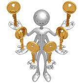 Handling Multiple Keys — Stock Photo